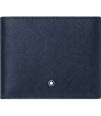 montblanc sartorial leather wallet in blue at nordstrom