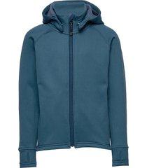 panda hoodie outerwear fleece outerwear fleece jackets blauw isbjörn of sweden