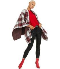 charter club tartan plaid cashmere cape, created for macy's