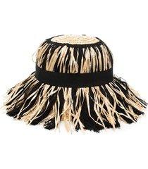mimisol hat with fringes