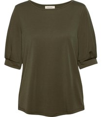 fqyr-1/2-puff blouses short-sleeved grön free/quent