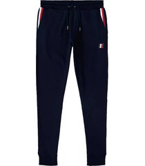 joggingsbroek global striped donkerblauw