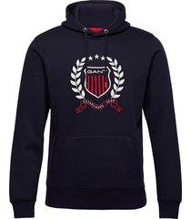 d1. gant crest hoodie hoodie trui blauw gant