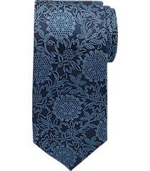 joseph abboud navy floral medallion narrow tie