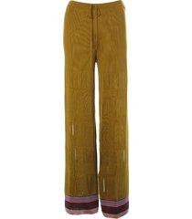missoni slit detail drawstring waist trousers