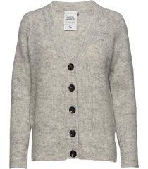 04 the knit cardigan stickad tröja cardigan grå denim hunter