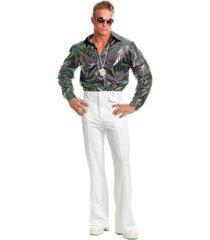 buyseasons men's swirl psychedelic disco shirt