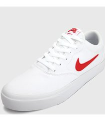tenis skateboarding blanco-rojo nike sb charge canvas,