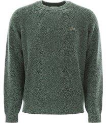 lacoste melange sweater