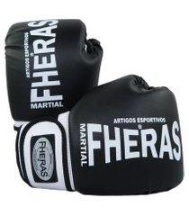 luva boxe muay thai fheras new orion preto .