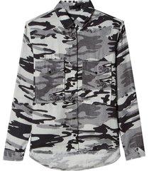 camisa john john camo desert estampado feminina (estampado, gg)