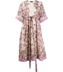 dsquared2 floral printed tunic dress - pink