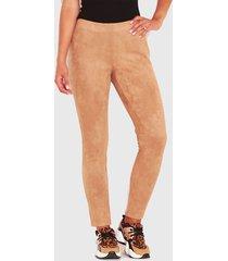 pantalón wados suede camel - calce ajustado