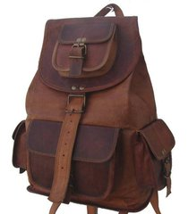 new 50 handmade genuine rustic leather bag ladies travel  backpack rucksack bag