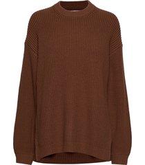 endiego ls long knit 5207 gebreide trui bruin envii