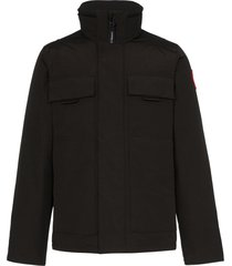 canada goose forester feather-down jacket - black
