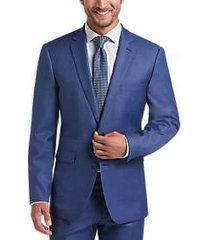 vince camuto blue sharkskin slim fit suit