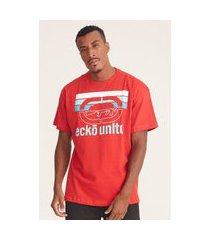 camiseta ecko plus size estampada vermelha