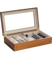 bey-berk sunglasses & watch storage box - brown