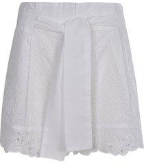 ermanno scervino lace detailed shorts
