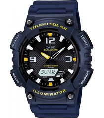 reloj casio aq s810w-2a analogo digital resina azul para cabellero