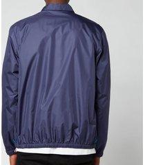 missoni men's patchwork anorak jacket - purple/blue - m