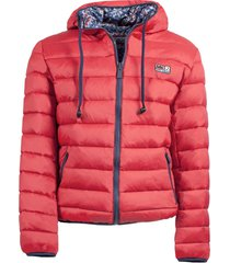man double face red down jacket