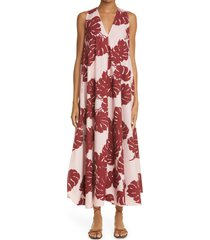 women's ladouble j selva sleeveless cotton tent dress, size small - pink (nordstrom exclusive)