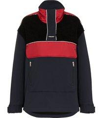 ambush fleece wool-blend windbreaker jacket - black