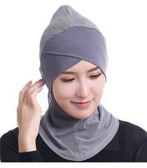 donne muslim hijab face-lift fascia islamica singola croce arabia etnica medio oriente cappello