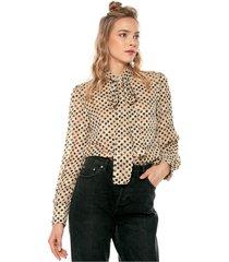 blusa beige-negro glamorous