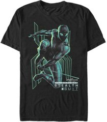marvel men's spider-man far from home stealth suit short sleeve t-shirt