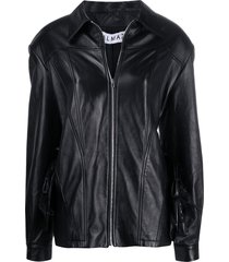 almaz oversized belted blazer - black