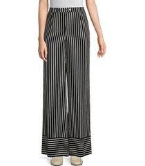 beatrice b women's striped wide leg pants - nero - size 42 (4)