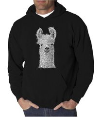 la pop art men's word art hoodie - llama