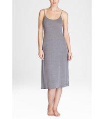 natori shangri-la nightgown, women's, grey, size xs natori