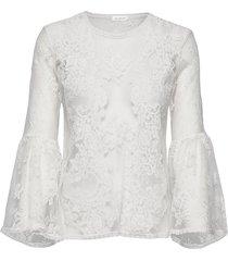 millie top blouse lange mouwen wit ida sjöstedt