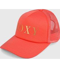 gorra coral-dorado roxy