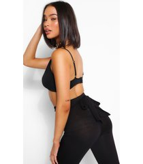 basic jersey tie back legging, black