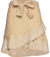 dynamic skirt kort kjol beige odd molly