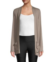 dkny sport women's ribbed open front cardigan - cool burst - size xs