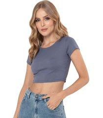 camiseta cropped bali azul ragged pf13120473