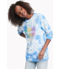 tommy hilfiger women's tie-dye sweatshirt bright white / regatta - xxs
