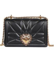 dolce & gabbana dolce & gabbana black devotion crossbody bag