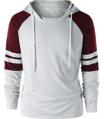 raglan sleeve two tone hoodie