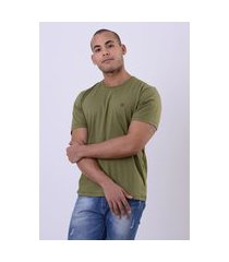 camiseta masculina básica eleven corp - verde musgo