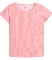 camiseta m/c mini puntos color naranja, talla l