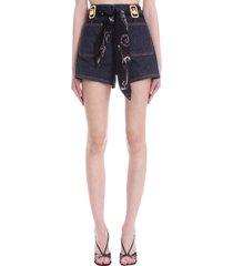 lanvin shorts in blue denim