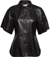alivia shirt kortärmad skjorta svart stand studio