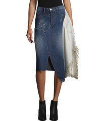 deconstruted denim skirt